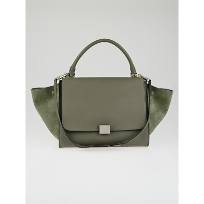Celine Almond Calfskin Leather Small Trapeze Bag