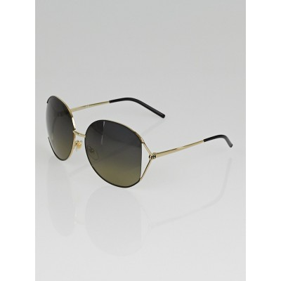 Gucci Silvertone Metal Frame Oversized GG Sunglasses - 4208/S