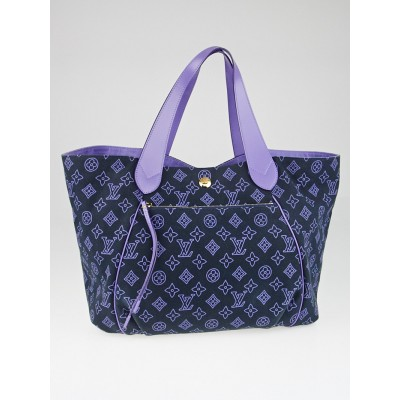 Louis Vuitton Limited Edition Navy Canvas Cabas Ipanema GM Bag