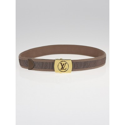 Louis Vuitton Taupe Monogram Fabric Fortune Sangle Belt Size 80/32