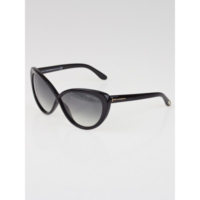 Tom Ford Black Plastic Frame Cat-Eye Madison Sunglasses - TF253