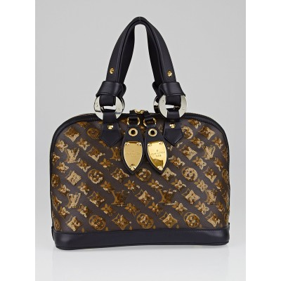 Louis Vuitton Limited Edition Amber Monogram Eclipse Alma Bag
