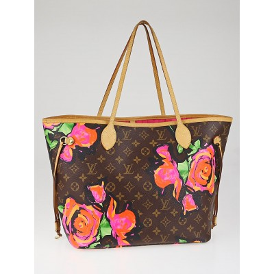 Louis Vuitton Limited Edition Stephen Sprouse Monogram Roses Neverfull MM Bag