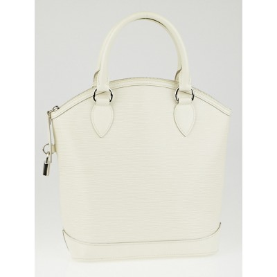 Louis Vuitton White Epi Leather Lockit PM Bag