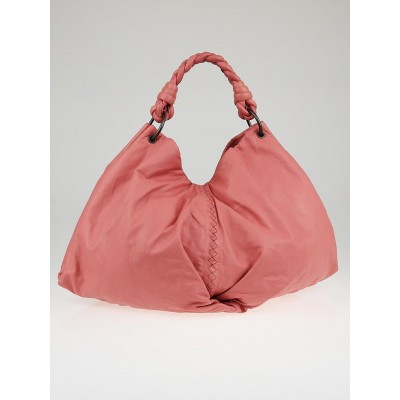 Bottega Veneta Petal Woven Leather Aquilone Fortune Cookie Hobo Bag