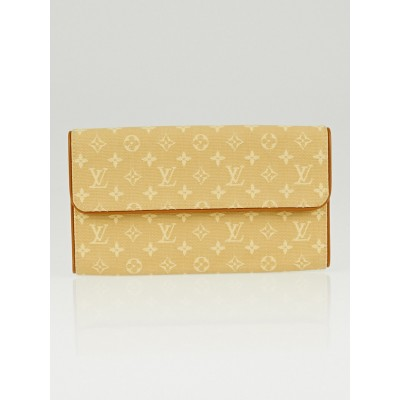 Louis Vuitton Beige Monogram Mini Lin Canvas Porte-Tresor International Wallet