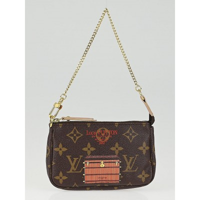 Louis Vuitton Limited Edition Monogram Canvas Inventuer Trunks & Locks Mini Accessories Pochette Bag