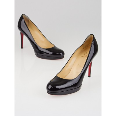 Christian Louboutin Black Patent Leather New Simple 100 Pumps Size 10.5/41
