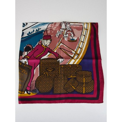 Louis Vuitton Cerise LV Groom Square Silk Scarf