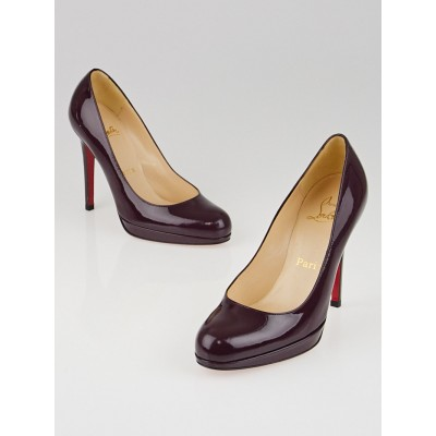 Christian Louboutin Plum Patent Leather New Simple 100 Pumps Size 4.5/35