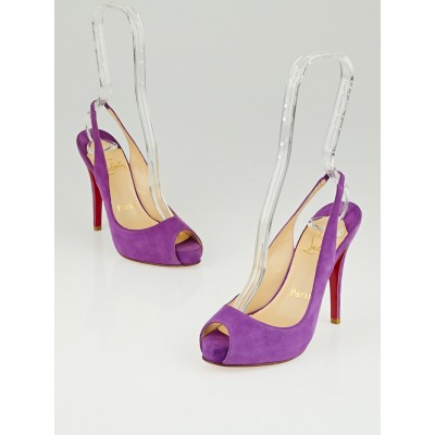 Christian Louboutin Purple Suede No Prive 120 Heels Size 4.5/35