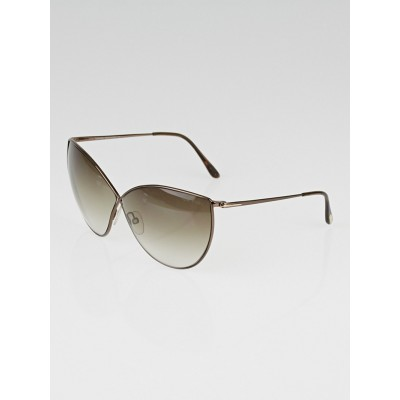Tom Ford Bronze Metal Frame Evelyn Sunglasses - TF251