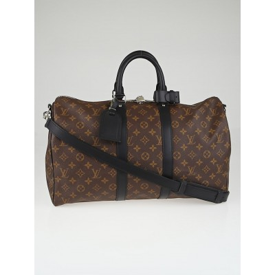 Louis Vuitton Monogram Macassar Canvas Keepall Bandouliere 45 Bag