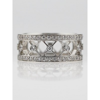 Tiffany & Co. Platinum and Diamond Voile Eternity Band Size 6