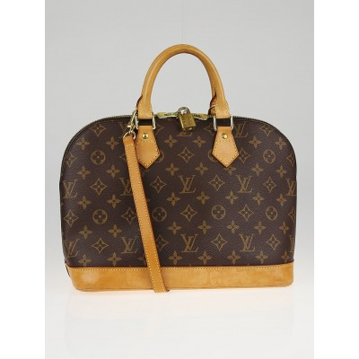 Louis Vuitton Monogram Canvas Alma PM Bag w/ Shoulder Strap