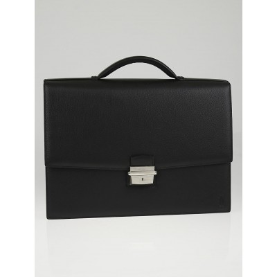 Cartier Black Cowhide Leather Pasha Briefcase Bag