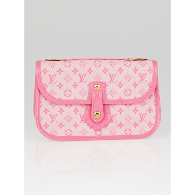 Louis Vuitton Pink Monogram Mini Lin Canvas Mary Kate Trousse Pochette Bag