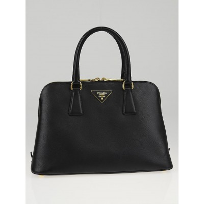 Prada Black Saffiano Leather Top Handle Bag BL0837