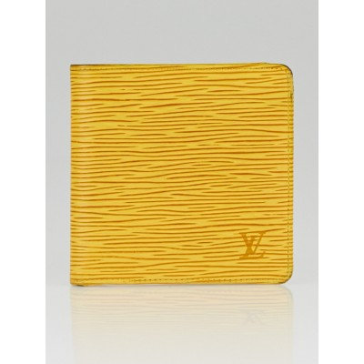 Louis Vuitton Tassil Yellow Epi Leather Marco Wallet