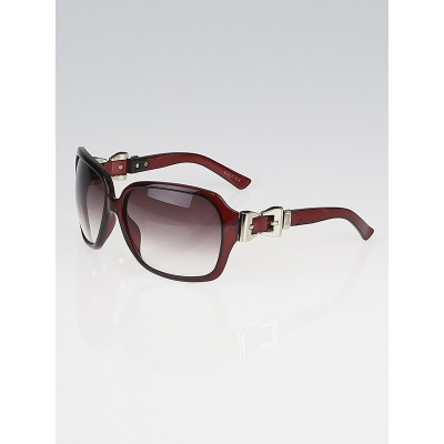 Gucci Red Frame Gradient Tint Queen Bow Sunglasses - 3006/S