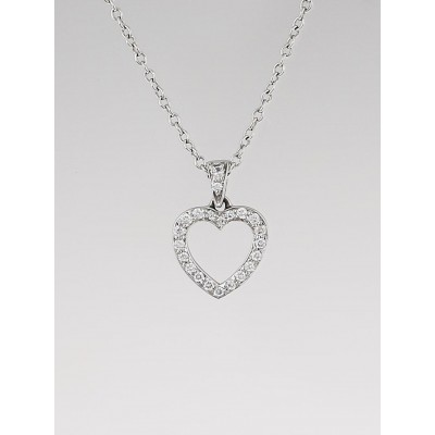 Tiffany & Co. Platinum and Diamond Tiffany Hearts Pendant