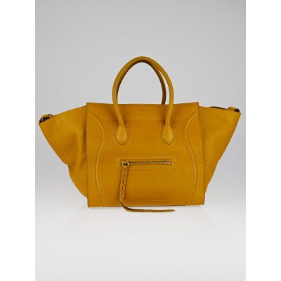 Celine Curry Natural Calfskin Leather Small Phantom Luggage Tote Bag