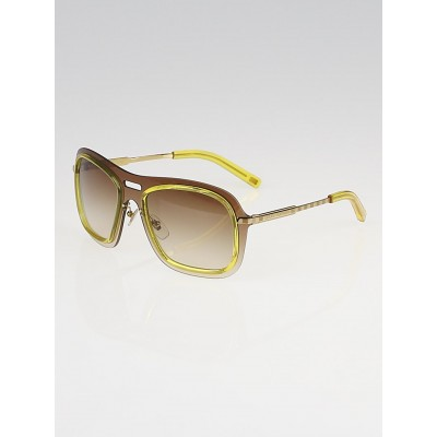 Louis Vuitton Yellow Acetate Frame Impulsion Sunglasses