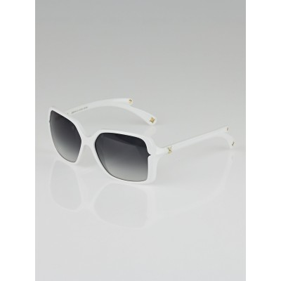 Louis Vuitton White Resin Frame Flore Carre Sunglasses
