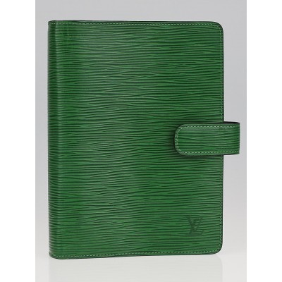 Louis Vuitton Borneo Green Epi Leather Medium Ring Agenda/Notebook Cover