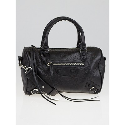 Balenciaga Black Chevre Leather Rubber Mini Twiggy Bag