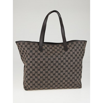 Gucci Dark Brown GG Canvas Large Tote Bag