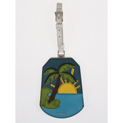 Prada Saffiano Leather Holiday Sun Luggage Tag