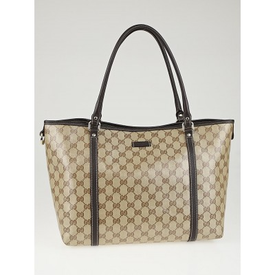 Gucci Beige/Ebony GG Crystal Coated Canvas Joy Medium Tote Bag