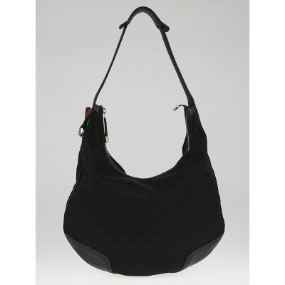 Gucci Black GG Canvas Princy Hobo Bag