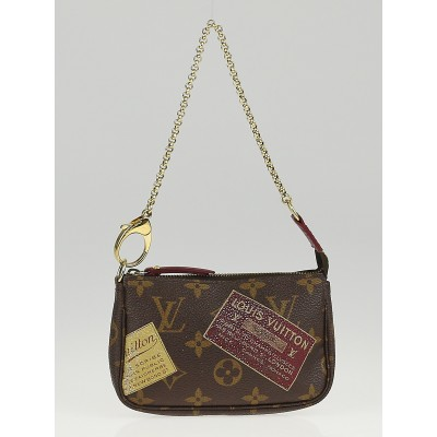 Louis Vuitton Limited Edition Monogram Canvas Patch Mini Accessories Pochette Bag