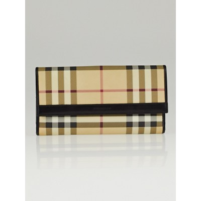 Burberry House Check Coated Canvas Long Wallet