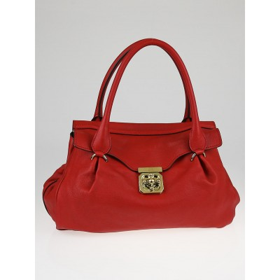 Chloe Red Leather Elsie East/West Satchel Bag