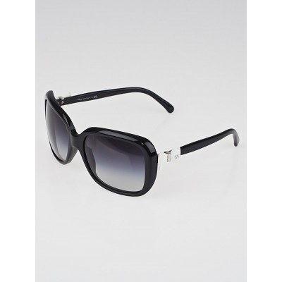 Chanel Black Frame Black Gradient Tint Bow Sunglasses-5171