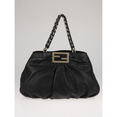 Fendi Black Borsa Leather Mia Shoulder Bag