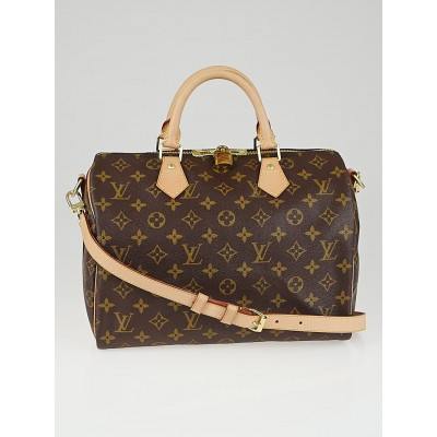 Louis Vuitton Monogram Canvas Speedy 30 Bandouliere Bag
