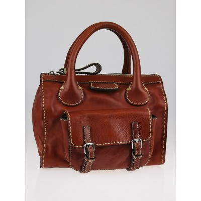 Chloe Ecureil Leather Small Edith Satchel Bag
