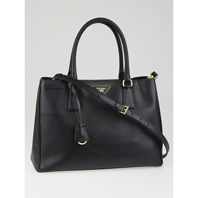 Prada Black Saffiano Lux Leather Small Tote Bag BN1874