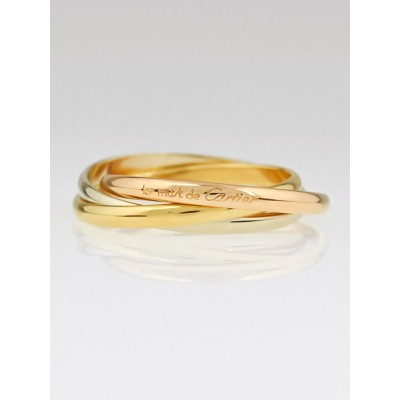 Cartier 18k Tri-Gold Trinity Le Must de Cartier Ring Size 5.75/51