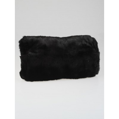 Yves Saint Laurent Black Mink Fur Muff