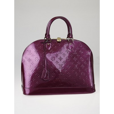 Louis Vuitton Violette Monogram Vernis Alma GM Bag
