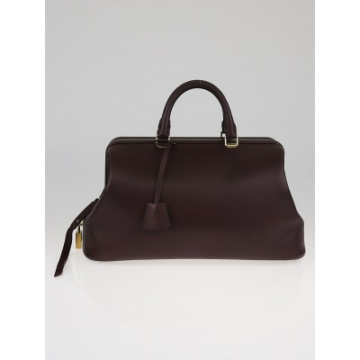 Celine Bordeaux Box Leather Small Frame Doctor Satchel Bag