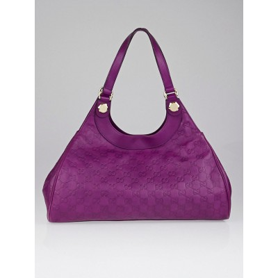 Gucci Purple Guccissima Leather Charmy Hobo Bag
