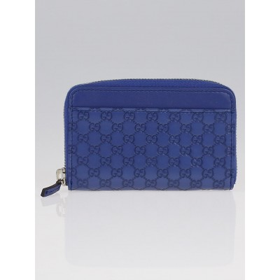 Gucci Blue Microguccissima Leather Coin Purse