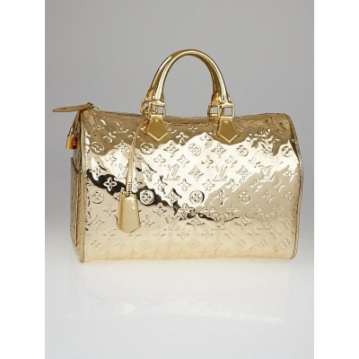 Louis Vuitton Limited Edition Gold Monogram Miroir Speedy 35 Bag
