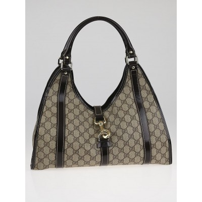 Gucci Beige/Ebony GG Coated Canvas Joy Medium Shoulder Bag